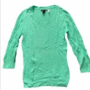 H&M Light Green Cable Knit Sweater